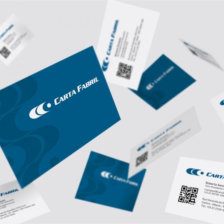 Planejamento visual - Cartão de visita Carta Fabril Produtos de Higiene Pessoal