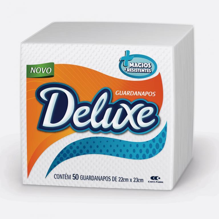 Desenvolvimento do mockup digital, packshot da embalagem do Guardanapo Deluxe para o Grupo Carta Fabril, indústria de produtos para higiene pessoal.