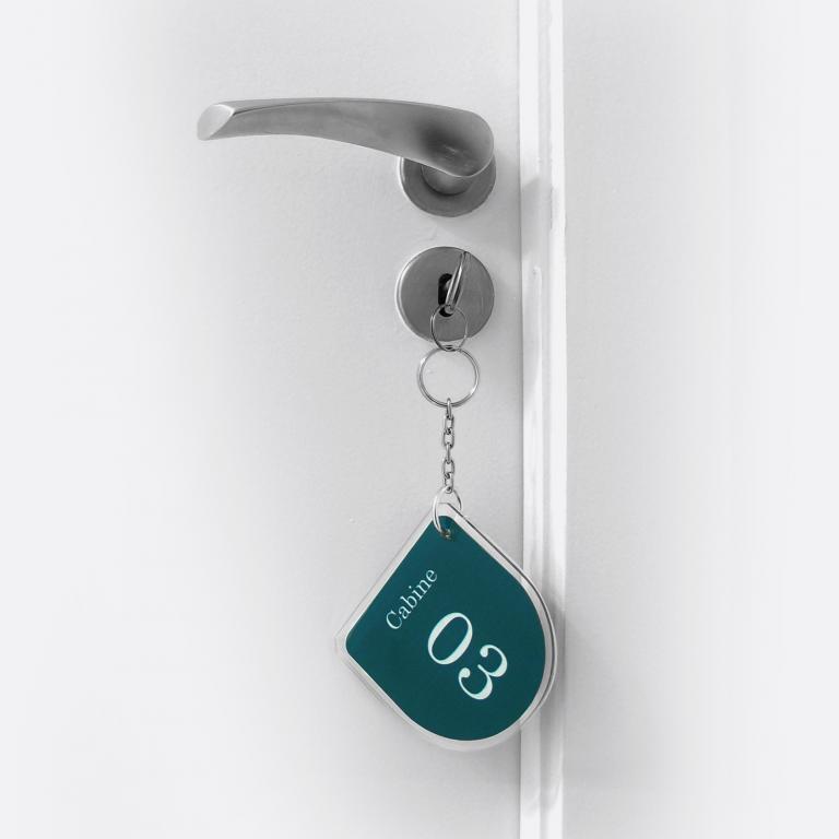 Design - Planejamento visual - Identidade Visual chaveiro para porta de trocador vestuário