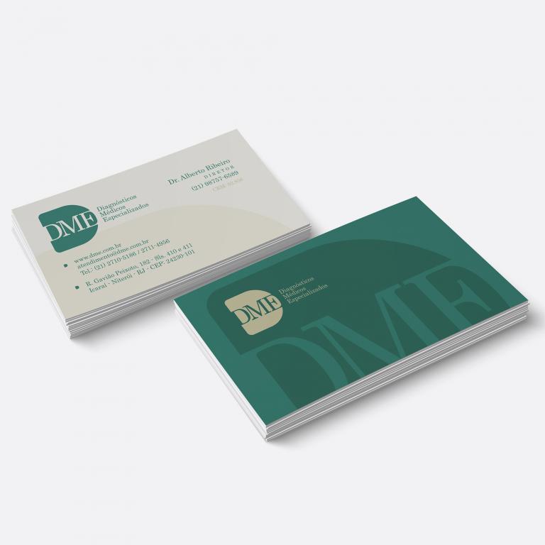 Design gráfico - Cartão de visita DME Exames Diagnósticos 2