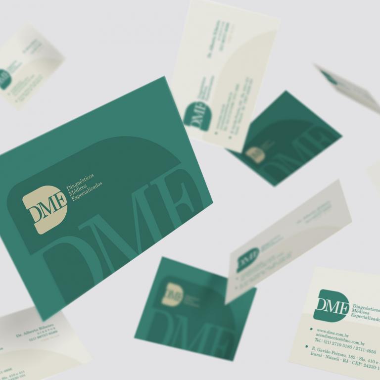 Design Gráfico - Cartão de visita DME Exames Diagnósticos