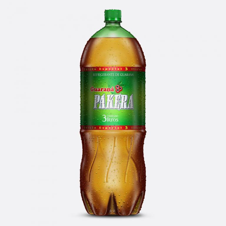 Desenvolvimento do mockup 3D digital, packshot da embalagem do Refrigerante Pakera para o Grupo Pakera.